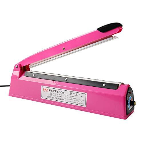 Demiawaking Sigillante Sottovuoto a 8 Velocità 2mm Sigilla Sacchetti a Caldo Termosaldatrice per Sacchetti Macchina per Sigillare Sacchetti di Plastica 300W Tipo 300 (Rosa)