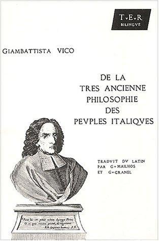 De la très ancienne philosophie des peuples italiques. : Edition bilingue français-latin