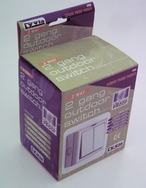 Outdoor Light Switch Weatherproof Dencon IP66 2Way 2 Gang Outdoor Switch Grey