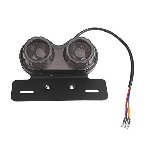 Sedeta® moto conduit feu de freinage arrière Lumière intégrée de plaque d'immatriculation de double clignotant de queue