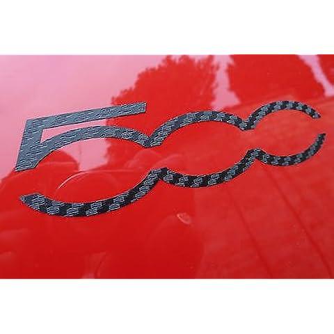 FIAT 500 FIBRA DE CARBONO CARRERAS LOGO estilo Adhesivos 1 PAR