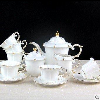KHSKX Home soggiorno ristorante set caffè in ceramica tazza da caffè con piattino bone china Teiera Zuccheriera serbatoio del latte