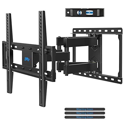 Mounting Dream TV Wandhalterung Schwenkbar Neigbar Fernseher Wandhalterung Doppel Arm Halterung für die meisten 66-140cm (26-55 Zoll) LED, LCD, OLED, Plasma TVs mit VESA 75x75-400x400mm bis zu 45kg