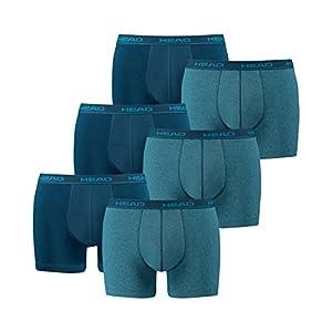 411VZcmj7GL. SS300  - HEAD - Calzoncillos bóxer para hombre (6 unidades), varios colores, azul, talla S