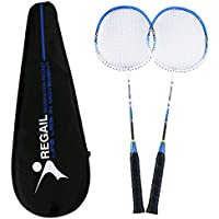 Philonext 2 Pack Badminton Rackets, Carbon Alloy Lightweight Sports Outdoor Badminton Racquet, 2 Player Badminton Practice Racquet Set Including 2 Rackets/1 Carrying Bag