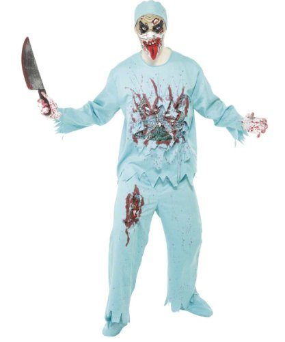 Kostüm Horror Doktor - Zombiekostüm Kostüm Doktor Zombie Zombiedoktor Gr. 48/50 (M), 52/54 (L), Größe:M