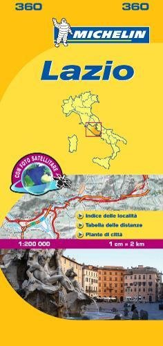 Michelin Map Lazio Italy: Lazio 360 par MICHELIN
