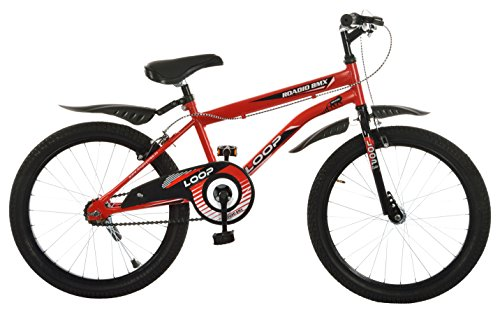 Loop Bikes Cycles Roadio BMX 20 Inches Bicycle For 8 To 10 Years Kids, Red & Black(Assembly Required By Customer)