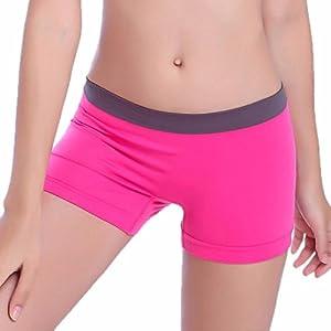 Siswong Damen Yoga Shorts Sports Ausbildung Trunks Unterwäsche Elastisch Brief Short Unterhose