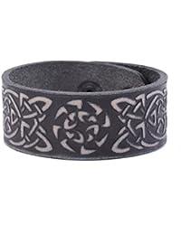 cb67c659681 Vintage punk retro Slavi Talisman Sun Wheel Viking nodo celtico simbolo  double-clasp bracciale in