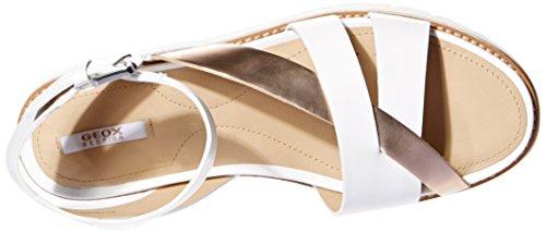 Geox D DARLINE B, Sandales ouvertes femme Blanc (C1Zh8)
