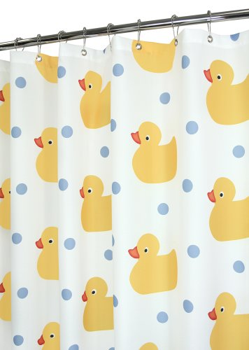 Park B. Smith Ducky Zeit Wendepunkt Vorhang für die Dusche, Tropischen, Polyester, Tropical, 72 by 72 -