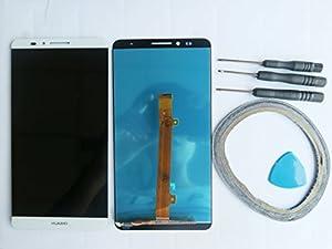 Ersatz Display LCD Komplett Einheit für Huawei Ascend Mate 7 Reparatur Weiß Neu+Werkzeug & Klebeband
