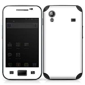 Samsung Galaxy Ace Case Skin Sticker aus Vinyl-Folie Aufkleber Weiß Weiss White