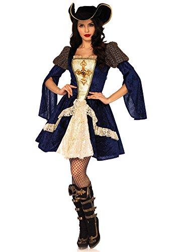Leg Avenue Enchanting Musketeer Kostüm, blau, gold, Größe: Small (EUR (Blue Kleid Kostüm Gold Halloween)
