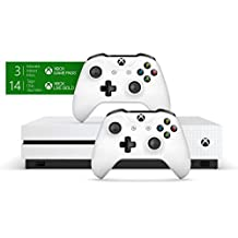 Pack Xbox One S 1 To avec 2 manettes + 3M de Game Pass – Exclusivité Amazon