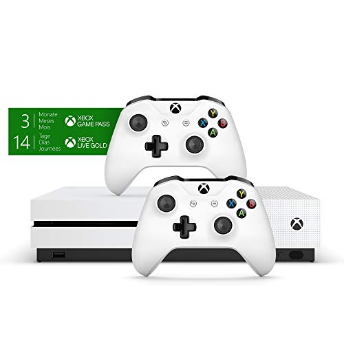 Xbox One S 1TB Konsole - Bundle inkl. 2. Controller + 3 Monate Gamepass + 14 Tage Live Gold