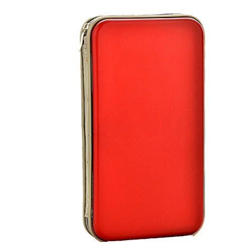 yamde 72Kapazität Classic CD/DVD Case Wallet, Aufbewahrung, Halter, Booklet, Fällen Binder (Rot)
