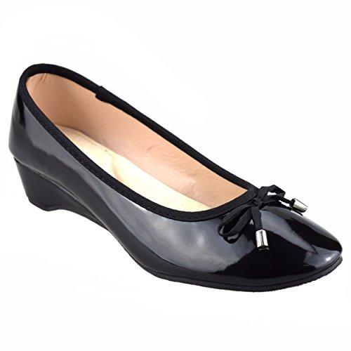 isotoner-ballet-da-ragazza-donna-nero-black-365
