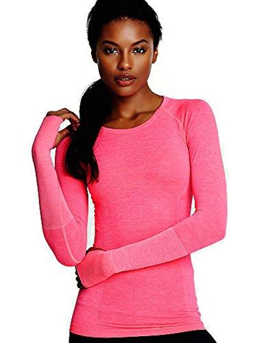 Victoria 's Secret Damen VSX Sport Seamless Long Sleeve Tee PINK XS XS Gr. XS, Rose -