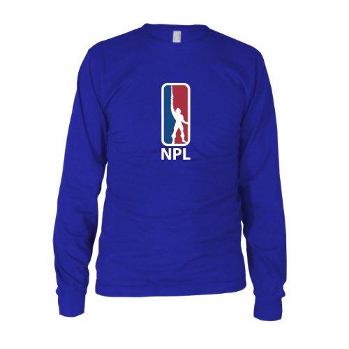 MotU: National Power League - Herren Langarm T-Shirt Blau