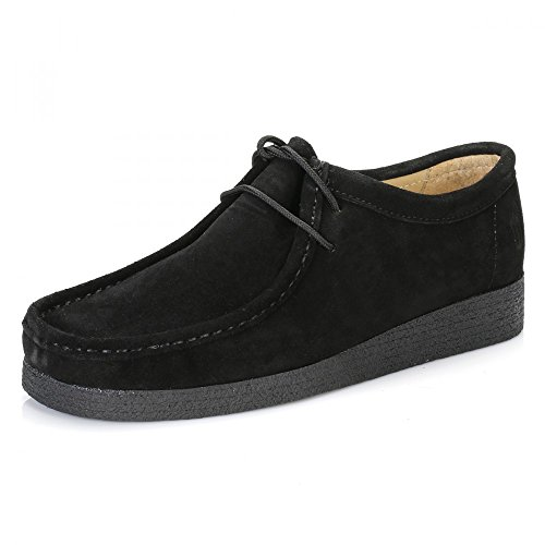 Tower Footwear Noir Wallabee Suede Chaussures