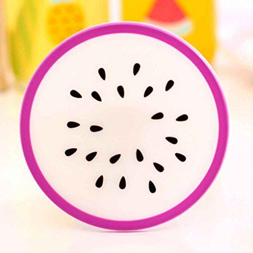 Preisvergleich Produktbild Zerama Kreative Coaster Frucht-Form-Silikon-Schalen-Auflage Beleg Isolierung-Auflage-Schalen-Matten-Auflage-Hot-Getränk-Halter