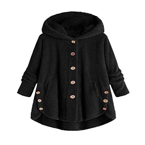 Luckycat Abrigos de Mujer Fleece Chaqueta con Capucha Espesar Suelto Prendas de Abrigo Cardigan Parkas Calentar