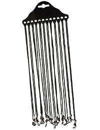 DN Negro Dacron Seguridad Gafas Anteojos Cordón Correa de cuello Gafas Holder (paquete de 12)