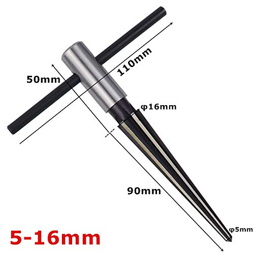 NO LOGO K-Fang, Kegelreibahle 3-13mm & 516mm Hand Metall Reibahle Entgrat- Vergrößern Pin-Loch-Hand Reibahle for Holz Kunststoff Metall Bohrwerkzeuge (Größe : 5-16mm)