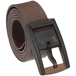 Malloom Hombres mujeres Unisex suave silicona caucho cuero cinturón hebilla de plástico nueva (marrón)