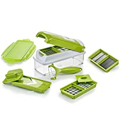Idea Regalo - Genius Nicer Dicer Smart | 10 Parti | Tagliaverdure | Affettaverdure | Mandoline | 800 ml | Slicer | Dicer | Food Chopper | Nuovo