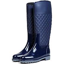 d78278656992b LILY999 Botas de Agua Mujer Botas de Lluvia Impermeable Altas Bota de Goma  Wellington Boots Otoño