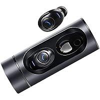 Auriculares Bluetooth,Earphones Inalámbricos Bluetooth Mini Stereo Caja de Carga Portátil Y Micrófono Integrado para