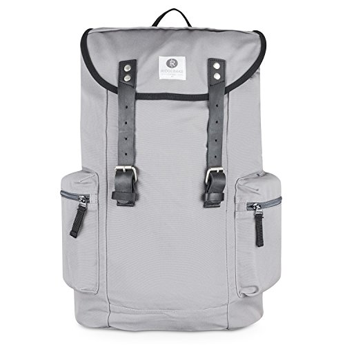 Ridgebake zaino caso LIAM ASH & BLACK LEATHER grigio Uomo Donna Bambini Laptop Backpack