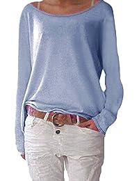 Flying Rabbit Tee shirt Femmes Casual Vrac Lâche Chemise Manches Longues Coton Top Blouse Pull Shirt Pour Printemps & Automne