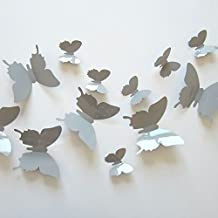 12adhesivos adhesivo para pared cámara mariposa 3d gris en relieve nouveauté vendedor Francais