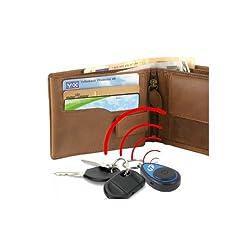 Incutex Schlüsselfinder mit Fernbedienung Key Finder im Kreditkarten Format, Hilfe zum Aufspüren von Schlüssel, blau