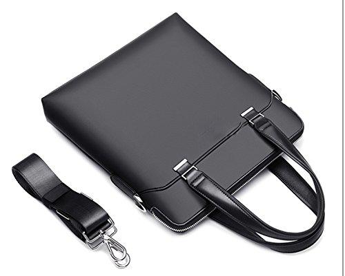 BULAGE Rucksäcke Laptop Vertikalschnitt Lässig Schulter- Messenger Dokumente Männer Reise Outdoor Geschäft Einfach Black
