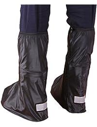 West bicicleta cubiertas de zapatos Botas con cremallera reutilizable cubrezapatillas de ciclismo (plegable antideslizante alto elástico con reflector