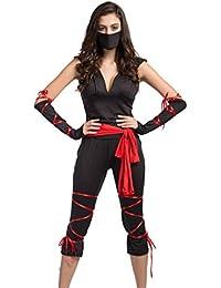 Damen-Epidemie Prävention Arbeitnehmer/Assassin Ninja Kostüm Halloween