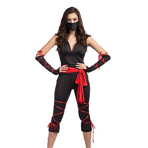 Damen-Epidemie Prävention Arbeitnehmer/Assassin Ninja Kostüm Halloween (Ninja Halloween Kostüme Für Frauen)