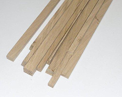 Eiche Dünn (10 Bastelleisten Vierkantstäbe Eiche 1 Meter lang, sägerau, Modellbauleisten 10 x 5mm)