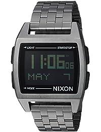Nixon Base - Reloj de Cuarzo para Hombre, Acero Inoxidable, Color Negro (Modelo