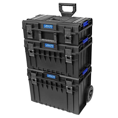 BULTO Werkzeugroller C1 TECH Werkzeugkoffer Trolley System - 3 stapelbare Boxen - Werkzeugbox Werkzeugkiste