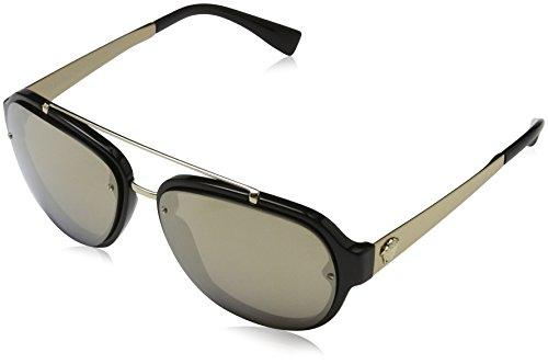 Versace Herren 0VE4327 GB1/5A 57 Sonnenbrille, Schwarz (Black/Lightbrownmirrorgold),