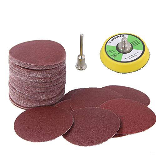 50 mm Schleifscheiben Schleifpapier für Holz Metall Leder Klett Schleifteller Polieren Schleifwerkzeug Schleifblätter