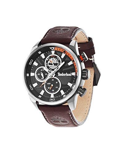 Timberland Watch Reloj Cronógrafo para Hombre de Cuarzo con Correa en Cuero TBL.14441JLU/02