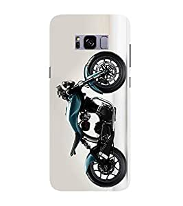 PrintVisa Designer Back Case Cover for Samsung Galaxy S8 (Luxurious Bike Pic)