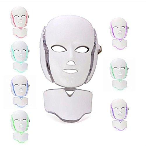 7 Couleurs Lumière LED Photon Thérapie Traitement Visage Masque Peau Rajeunissement Blanchiment Facial Beauté journée Peau Soins Coloré Masque